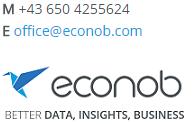 Logo with contact infos